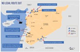 Maps Syria by Irin No Way Out How Syrians Are Struggling To Find An Exit