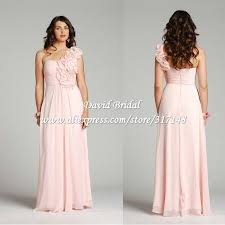 light pink and black bridesmaid dresses