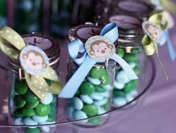 Baby Monkey Centerpieces by Monkey Decorations Monkey Birthday Party Food Ideas