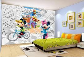 chambre enfant mickey décoration murale chambre d enfant papier peint tapisserie effet