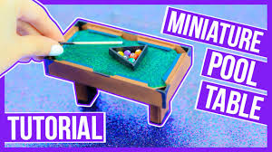 diy indoor games diy miniature pool table tutorial make your own pool table for