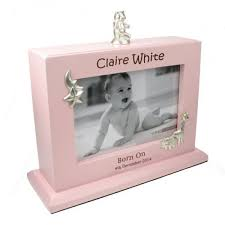 baby girl photo album personalised baby girl photoframe and album laser engraved the tot