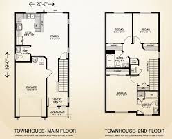 town house home plan true built home pacific northwest custom