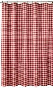 Shower Curtains With Red Red Plaid Shower Curtain Foter
