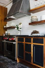 industrial kitchen with two tone cabinets transitional kitchen