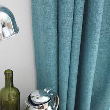 Turquoise Sheer Curtains Faux Linen Turquoise Semi Sheer Curtain