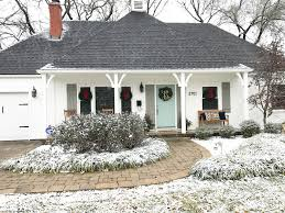 french country house during the holidays paint colors alabaster