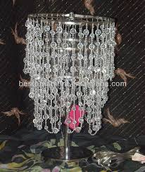 Plastic Chandelier Silver L With Clear Plastic Beaded Chandelier Buy Table Top