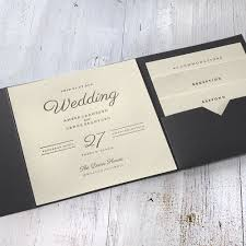modern sophistication pocket invitation invitations by