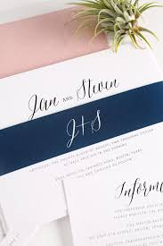 navy and blush wedding invitations rustic wedding invitations in blush wedding invitations