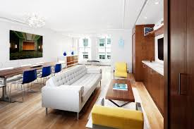 yellow accent chair living room contemporary with analogous color
