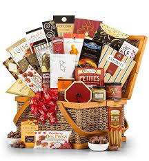 the grand indulgence gourmet gift basket regarding gourmet gift