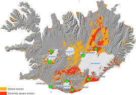 Red Colors Sandy Deserts In Iceland Shown With Yellow And Red Colors Which