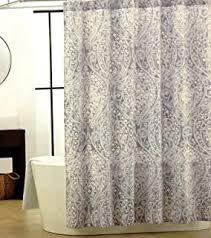 Blue Paisley Shower Curtain Amazon Com Tahari Roseman Fabric Paisley Shower Curtain Soft
