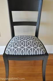 Best  Recover Dining Chairs Ideas On Pinterest Upholstered - Grey fabric dining room chairs