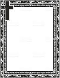 engraved cross and scroll frame stock vector more images of