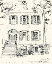 custom pen and ink architectural drawing of your house or home zoom