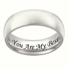 engraved wedding bands personalized stainless steel wedding band 7mm walmart