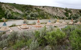 cody wyoming tipi camping