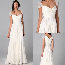 cap sleeve dresses online charming beaded cap sleeve chiffon white dresses for