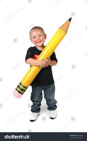 happy young toddler schoolage child holding stock photo 32935048