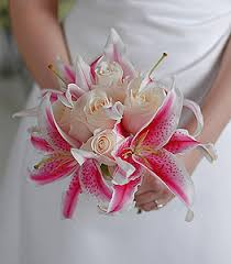 stargazer bouquet with vibrant stargazer lilies alongside classic colored