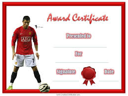 soccer award certificate football pinterest
