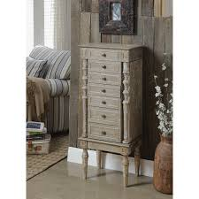 Where To Buy A Jewelry Armoire Acme Furniture Taline Weathered Oak Jewelry Armoire 97173 The