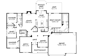 Ranch Walkout Basement House Plans by Decor 5 Bedroom Ranch House Plans Open Concept Floor For Alluring