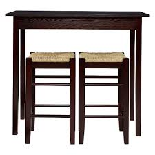 wood counter height table 3 piece counter height table set wood brown linon home décor target