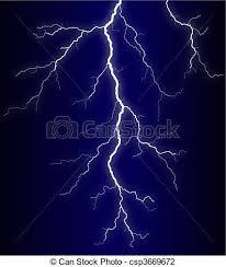 Clip Art Of Lightning Illustration Of A Lightning Bolt At Night