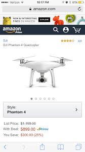 amazon black friday quadcopter amazon has phantom 4 for 899 dji phantom drone forum
