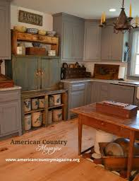 Primitive Kitchen Furniture Primitive Kitchen Love The Painted Cupboards But Am I Brave
