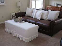 Leather Sofa Slipcover by Bedroom Alluring Sure Fit Stretch Leather Oversized Ottoman