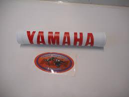 handlebar pad yamaha white