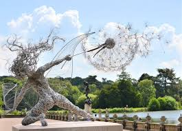 dramatic stainless steel wire fairies by robin wight colossal