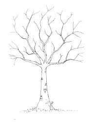 For A Tree Wedding Diy Fingerprint Tree Template To Print Tree