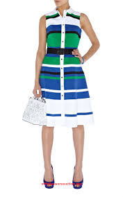 modele de robe de bureau dazzling millen dl188 graphic stripe shirt dress multicolour