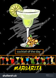 martini beach cocktail dayvector cocktails set isolated martini stock vector