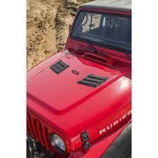 jeep rubicon 2017 pink rugged ridge 17759 09 performance hood vents black 07 16