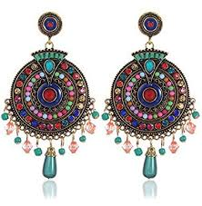 metal earings buy youbella bohemian multicolor metal earrings for women online