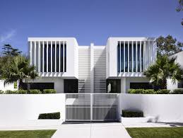 modern white exterior wall house fence wall designs with white