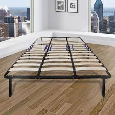 King Mattress Foundation Rest Rite Eastern King Metal And Wood Bed Frame Mfprrwspfek The