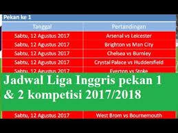 Jadwal Liga Inggris Jadwal Liga Inggris Pekan 1 2 Tahun 2017 2018