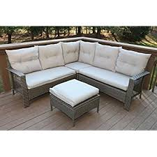 sofa rattan outsunny 3 outdoor rattan wicker sofa and chaise