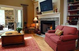 Living Room Fireplace Designs - Living room with fireplace design