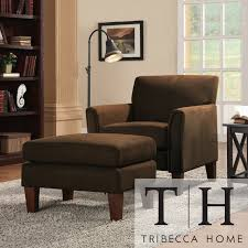 Microfiber Accent Chair Collection In Microfiber Accent Chair Tribecca Home Uptown Mocha