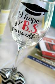 college graduation gifts for friends graduation wine glass graduate wine glass by monogramrevolution