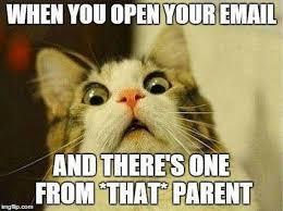 Fear Meme - teacher meme that parent emailing fear faculty loungers