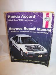haynes honda accord 1990 to 1993 repair manual